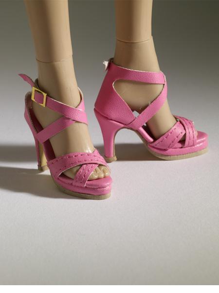tonner nu mood pink sandal high heel 2 doll shoes 2012